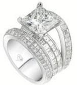 Custom princess cut diamond engangement ring
